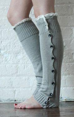 Leg Warmers Dark Grey Leg Warmers Boot Toppers