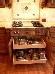 Kitchen Storage For Pots And Pans Of The Week On Houzz By Renewal Design Build In Atlanta Ga Kitchens Pinterest