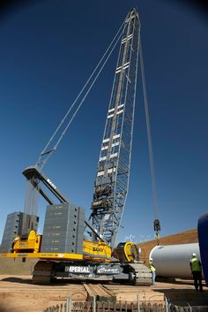 Crawler crane is a self-propelled crane, most often utilized for high-rise constructions. The crawler crane uses tracks for movement and i. Crane Construction, Heavy Construction Equipment, Heavy Equipment, Tow Truck, Big Trucks, Heavy Weight Lifting, Lift Heavy, Gas Work, Cranes For Sale