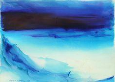 Fayga Ostrower, Noite 1996 Aquarela sobre papel Arches 56,5 x 76,5 cm