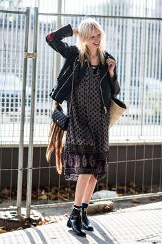 Lili Sumner Model off duty street style pfw PFW 2016 ss 2016