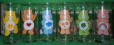 Care Bears glasses from Pizza Hut (1983) #80s #carebears