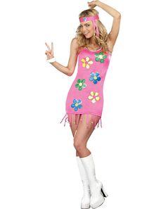 #Trendy Halloween - #Dreamgirl Groovy Baby Adult Womens Costume - AdoreWe.com