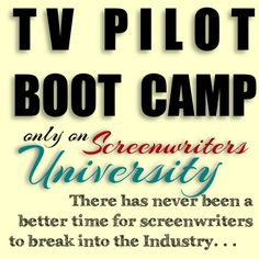 Elevate your concept from initial idea to a fully realized TV series premise with a professional review of your pilot proposal with Screenwriters University's TV Pilot Boot Camp Oct 25-27! ~Aaron http://swu.register.fwmedia.com/Course?CourseId=7021-5