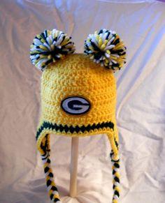 Green Bay Packers Crochet Baby Ear Flap Hat