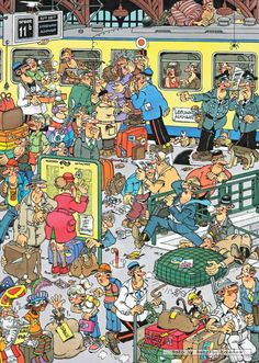 Jan van Haasteren, Train - Swedish cartoonist van Haasteren is probably the all time master of the cartoon jigsaw puzzle. His puzzles are prized by jigsaw enthusiasts worldwide who consider him something of a rockstar.
