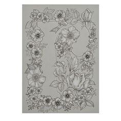 <p>Affiche lettre R fleurie, collection Flower Power, imprimée sur papier 240g de couleur grise, dessin imprimé puis retouché à la main au crayon blanc, design deco-graphic. Pour offrir en cadeau de naisssance, à votre amie ou voisine et pour toutes les Romy, Rachel, Régine ...! On a aimé dessiner cette série de lettres fleuries, rien que pour vous en exclusivité sur deco-graphic.com .</p>