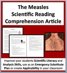 Free The Measles Nonfiction Reading Comprehension This Resource Covers The Following Topics