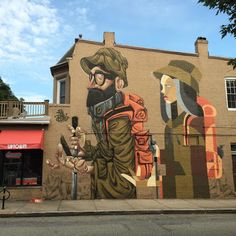 """""""The Migration"""" by artists INK & CLOG for #RichmondMuralProject"""