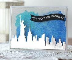 Ornament Banner Builder, Blueprints 13 Die-namics, Blueprints 25 Die-namics, New York Skyline Die-namics - Angela Rivera, Oklahoma  #mftstamps #2015carddesignsuperstars