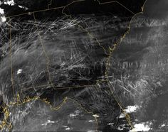 Chemtrails from a weather satellite photo