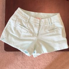 Annie Griffin shorts Bright light blue textured shorts. Small front and back pockets. Lined. Size 2.  (Not J. Crew, needed exposure) J. Crew Shorts