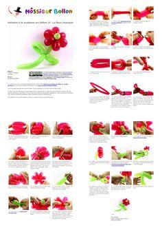 Fiche technique : Initiation à la sculpture sur ballon 14 - La fleur classique