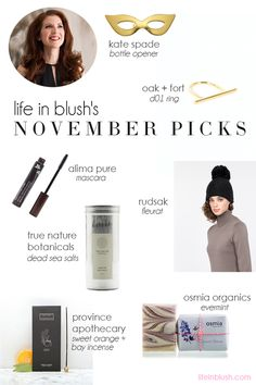 november picks | life in blush