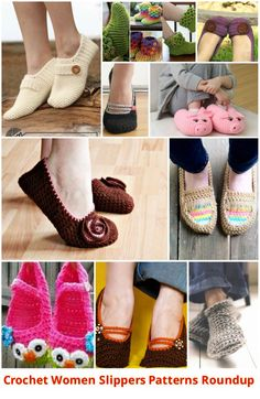 DIY Cute Crochet and Knit Animal Slippers-Free Pattern Crochet Boots, Crochet Slippers, Cute Crochet, Crochet Boot Cuff Pattern, Crochet Slipper Pattern, Knitted Animals, Crochet Woman, Womens Slippers, Free Pattern