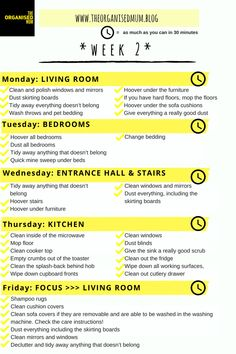 Free printable for week 2 of The Organised Mum Method: CLICK HERE TO DOWNLOAD (this printable is meant for your personal use only)