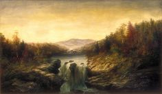 Landscape with Waterfall, William Charles Anthony Frerichs, 19th century, Gift of Leon Prince