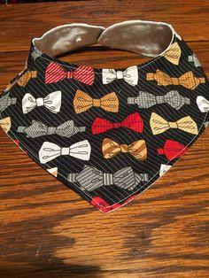 Bow Tie Bandana Bib Baby bib dribble bib  by JamieVanNuysDesigns