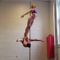 Every time @doublepoletruble tags me in a photo, there's always something new to amaze and inspire me. Tag some pole friends so they can get a little pole inspiration, too. Follow our sister account @PoleDanceNation for more pole tricks. #AerialNation #Po