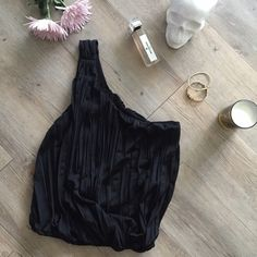 Free People Top One shoulder top. Only worn once and in perfect condition. Strap inside for hanging purposes. Banded at the waist! Free People Tops