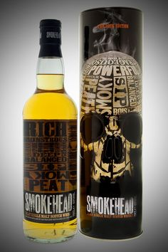 Smokehead Whisky Rock Edition Smoky, peaty, wonderful single malt Islay deliciousness. This is on my bar at home.