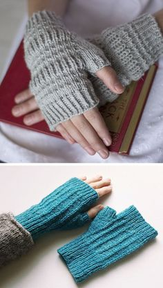 Ever since typing that bit about my single skein of Crooked Fence Farm yarn being destined to become a pair of fingerless mitts, I haven't been able to stop thinking about which mitts. It's a humbly g Knitted Mittens Pattern, Loom Knitting Patterns, Crochet Mittens, Crochet Gloves, Knitting Stitches, Hand Knitting, Hat Patterns, Knitting Tutorials, Stitch Patterns