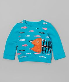 Teal School of Fish Tee - Infant, Toddler & Girls