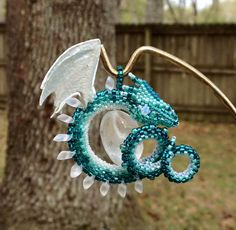 Beaded Dragon Ornaments http://geekxgirls.com/article.php?ID=7185