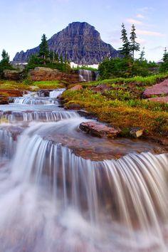 Red Rock Falls in Glacier National Park, Montana