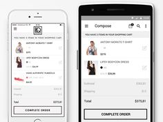 iOS8 and Android shopping cart