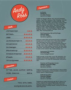 Another example of a creative resume   Resumes for Creative Fields ...