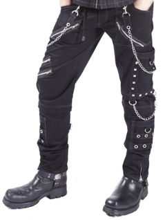 NEW DEAD THREADS BLACK D RINGS ZIPS STRAPS TROUSERS GOTHIC PUNK CYBER RAVE 30-38