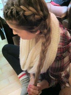 Pretty braid, can't wait til my hair is that long!