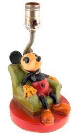 Soreng-Manegold Mickey Mouse Plaster Lamp (1936) Mickey Mouse Lamp, Vintage Mickey Mouse, Vintage Disney, Disney Mickey Mouse, Minnie Mouse, Old Disney, Disney Stuff, Disney Lamp, Joker And Harley Quinn