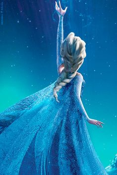 Day 10- Elsa's hair: I don't care how many tutorials are out there; no one can do it like Disney
