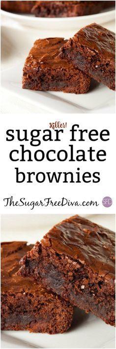 (Killer...) Sugar Free Chocolate Brownies