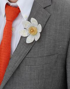 Guitar Pick Flower- Boutonniere.. i think jonathon would like that!