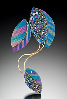 """(3) Tumblr-SANDRA MCCAW- """"My inspiration derives from a fascination with the interplay of color, line and form. In working with polymer clay, I am able to create complex patterns where lines seem to lose their distinction and blend, and where colors bloom and merge. Polymer clay, with its richness of color and flexibility, allows me to create the intricate patterns that I love."""""""