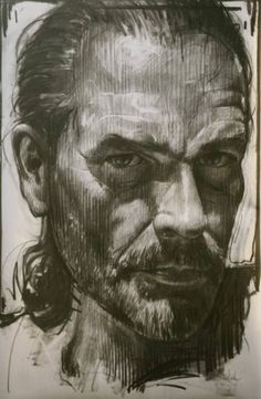 "Saatchi Art Artist nico vrielink; Drawing, ""Self Portrait 2013"" #art"