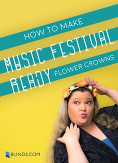 Coachella envy? Make a simple flower crown to give any outfit music festival flair!