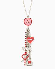 charming charlie | Message Me Dangle Necklace | UPC: 410007355810 #charmingcharlie