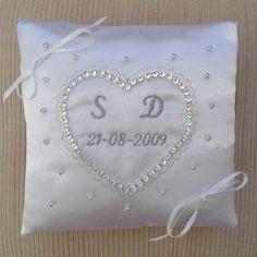 Personalised Wedding Ring Cushion Bridal Pillow 24 99