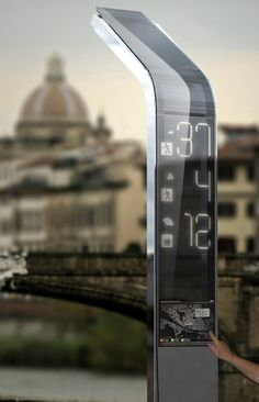 eyestop #italy futuristic bus stop #future #tech  Now that could have some interesting uses in several places!