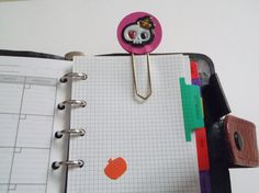 clip planner skull kawaii pink purple organizer bookmark school art journal book halloween clip skull pastel goth kawaii lasoffittadiste