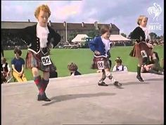 Young Highland dancers - Inverness - Gathering of the clans 1966 / The dancers' piper is William MacDonald (Benbecula) / The little girl with red curly hair might be Susan Cowie from Buckie.
