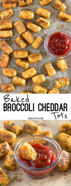 These Baked Broccoli Cheddar Tots are a fun, easy, and delicious way to turn leftover mashed potatoes into a new meal.