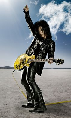 Steve Stevens - guitarist for Billy Idol. Hewas also in groups with Vince Neil of Motley Crue and Terry Bozzio of Frank Zappa and Missing Persons