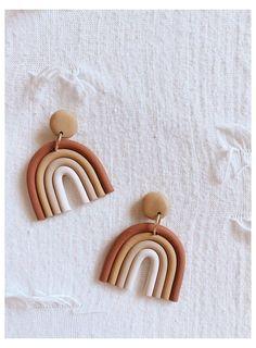 Diy Earrings Polymer Clay, Cute Polymer Clay, Fimo Clay, Polymer Clay Charms, Handmade Polymer Clay, Earrings Handmade, Clay Beads, Diy Accessoires, Clay Design