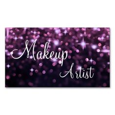 Makeup Artist Business Cards. Make your own business card with this great design. All you need is to add your info to this template. Click the image to try it out!
