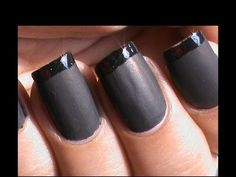 Matte Nail Polish Designs - French tip Matte Nails - Matte Nail Art Tuto...